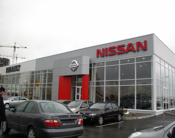 Commercial Complex with NISSAN Vehicle Service Station  and HONDA Motocycle Sale Pavillion
